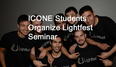 Aston University ICONE students organizing Lightfest Seminar