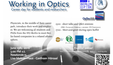 ICONE presents at Career in Optics Day